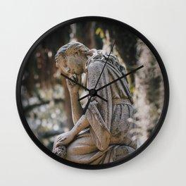 Bonaventure Cemetery - Statue of Eliza Wilhelmina Theus II Wall Clock