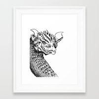 smaug Framed Art Prints featuring Smaug by LegendOfZeldy