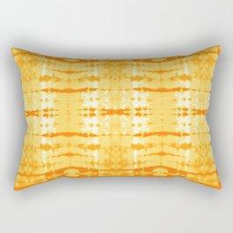 Satin Shibori Yellow Rectangular Pillow
