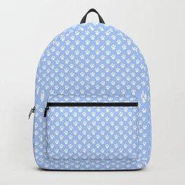 Tiny Paw Prints Powder Blue Backpack