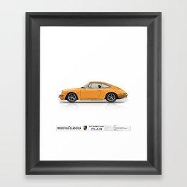 Porsche 1968 912 Bahama Yellow Framed Art Print