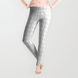 Black and White Anatomical Heart Leggings
