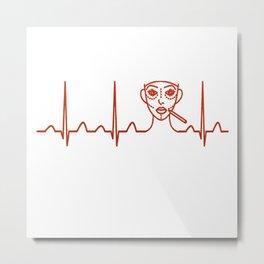 Plastic Surgeon Heartbeat Metal Print