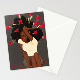 Rose Red Stationery Cards