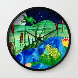 Frog Pond Wall Clock
