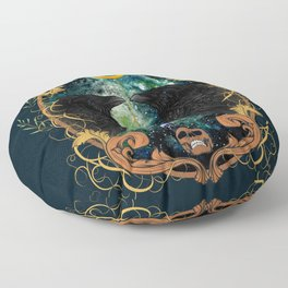 Raven Moon Oracle With Crystal Pendulum Floor Pillow