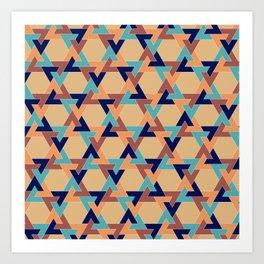 Geometric pattern 1977 Art Print