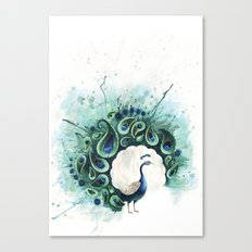 Circle Peacock Canvas Print