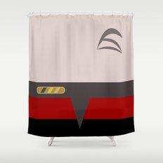 Chakotay - Minimalist Star Trek Voyager VOY - startrek Trektangle Trektangles Maquis Delta Quadrant Shower Curtain