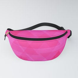 Bright pink triangles in intersection and overlay. Fanny Pack
