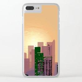Sunset over Calfifornia Street Clear iPhone Case