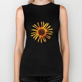 Think Flowers - Spikey Sunflower Biker Tank