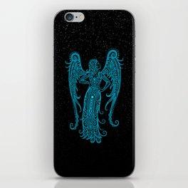 Blue Virgo Zodiac Sign in the Stars iPhone Skin