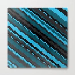 Blue Gray and black abstract Metal Print