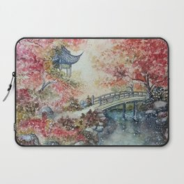 Autumn Morning (Watercolor painting) Laptop Sleeve