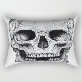 Traditional Anatomical Skull Design Rectangular Pillow
