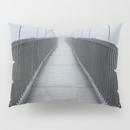 The Swinging Bridge in Fog on a Mountain Pillow Sham