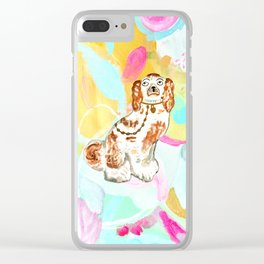 BETTY ON ABSTRACT Clear iPhone Case