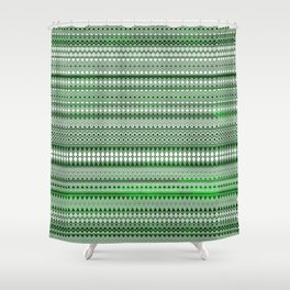 Tribality Green Texture Shower Curtain
