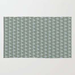 Springtime blue nature art graphic pattern by Villa Hed Rug