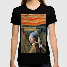 The Scream of Pearl Earring Girl T-shirt