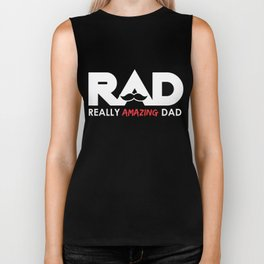 Really Amazing Dad Fathers Day Gift for Dad Dark Biker Tank
