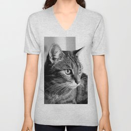 cat look Unisex V-Neck