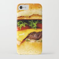 burger iPhone & iPod Cases featuring Burger by Jamie Danielle