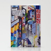 broadway Stationery Cards featuring Broadway by Grettyworks
