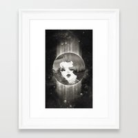 planet Framed Art Prints featuring Planet by Ozghoul