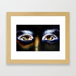 Fire Eyed Framed Art Print