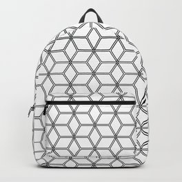Geometric Hive Mind Pattern - Black #375 Backpack