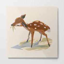 Formosan Sika Deer Illustration Metal Print