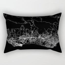 Santa Barbara Black Map Rectangular Pillow