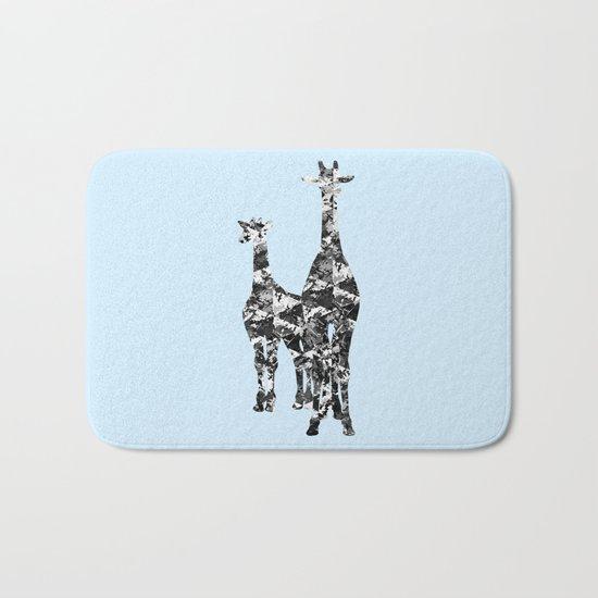Patchwork Giraffes  Bath Mat