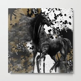 HORSE AND THUNDER Metal Print