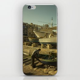 St Julian's golden boats iPhone Skin