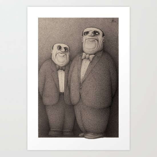 The Honourable Gentlemen (Sepia) Art Print