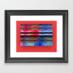 Red Color Blinds Framed Art Print
