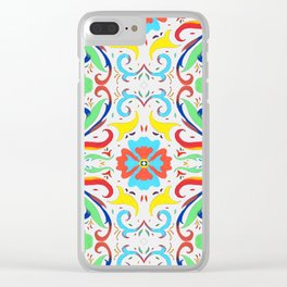 Ornamental Flourish Clear iPhone Case