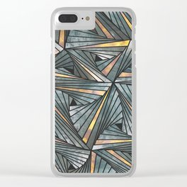 Mesh (Grey and Copper) Clear iPhone Case