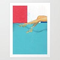 underwater Art Prints featuring Underwater by Fitacola