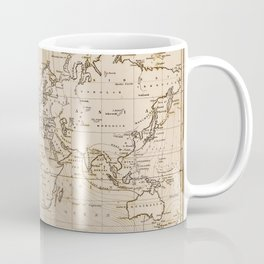 World Map 1844 Coffee Mug