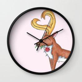 Cervid Swooner Wall Clock