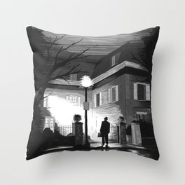 The exorcist Throw Pillow