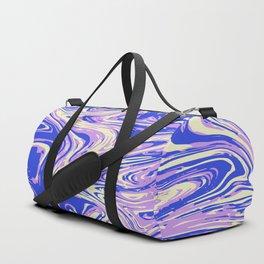 Purple marble with raspberry tint Duffle Bag