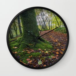 Autumn Forest Walk Wall Clock