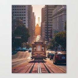 San Francisco Trolley (Color) Canvas Print
