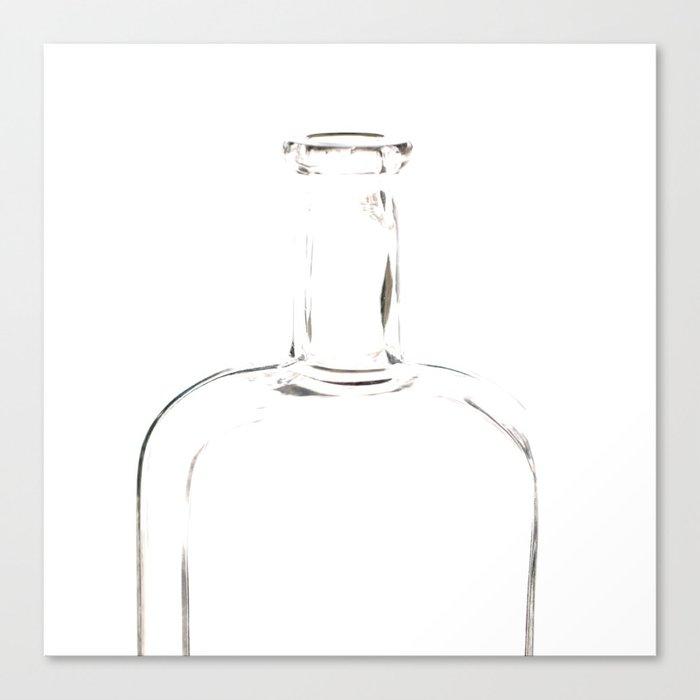 Empty  Glass Bottle #decor #society6 Canvas Print