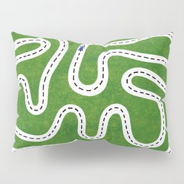 Green Speed Racers Pillow Sham